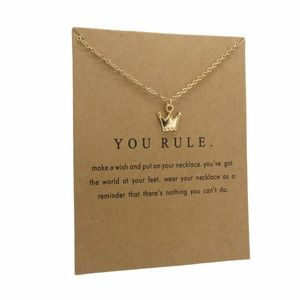 You Rule Inspirational Pendant Necklace